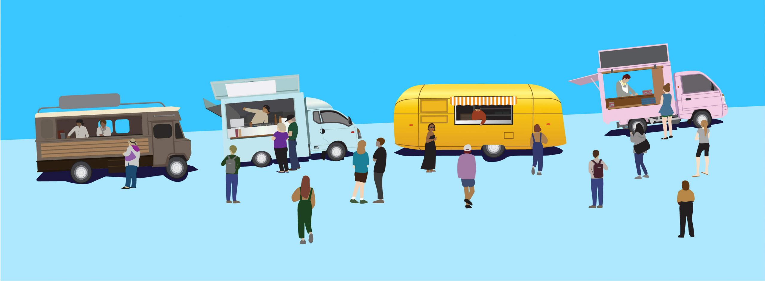 Foodtruck-illustration